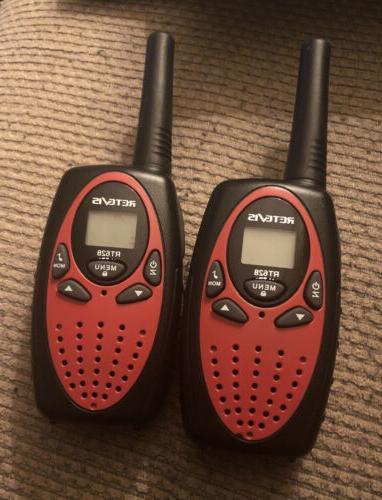 2x walkie talkies 22 channels long range