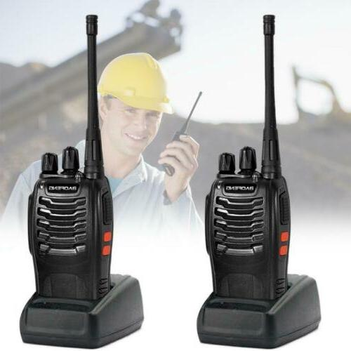 2× Baofeng BF-888S Walkie Talkies UHF VHF Portable Handheld