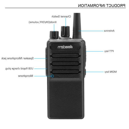 3x 400-470MHz Walkie Two Way Radio Long Range