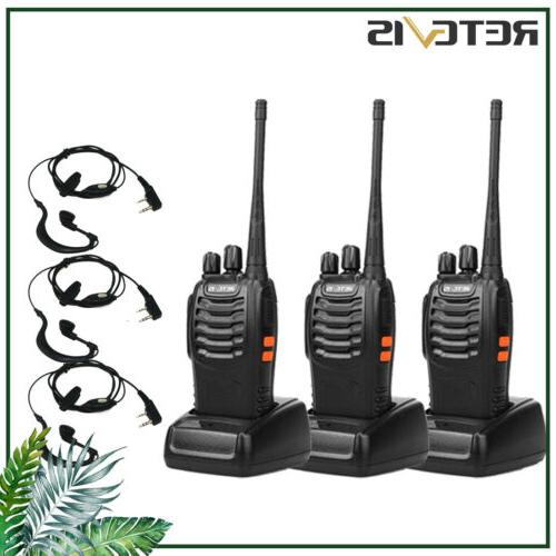 3x h777 walkie talkie 16ch uhf ctcss