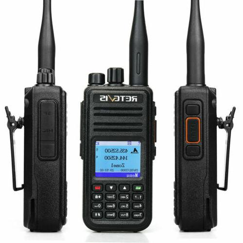 3xRetevis RT3S GPS 2000mAh 3000CH UHF/VHF Alarm TOT+Cable