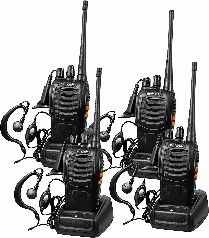 Long Range Walkie Talkie 4 Set 5 Mile Two Way Radio Charge H