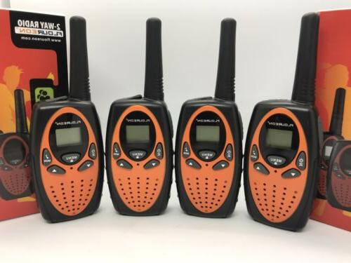 4x FLOUREON Radio Walkie Talkies 22CH 462-467MHz