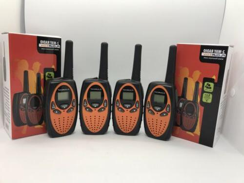 4x 2 way radio walkie talkies 22ch