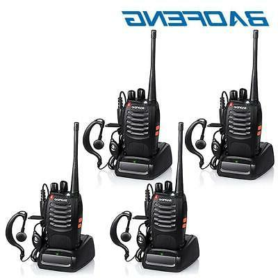 4x bf 888s two way radio walkie
