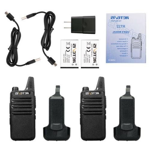 6pcs Retevis Walkie Talkies 16CH Charger