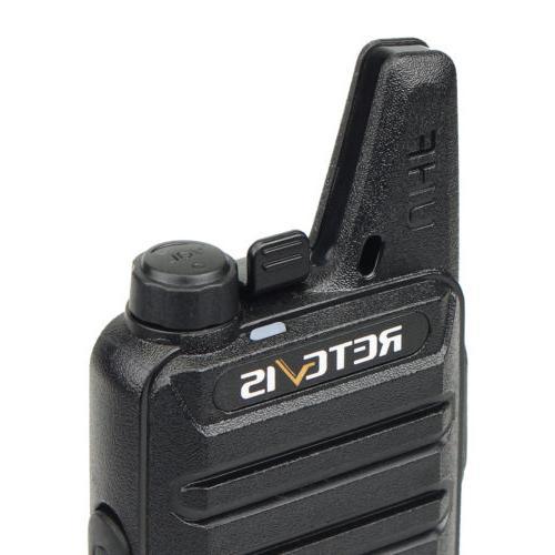 2XRetevis Walkie UHF462-467MHz 16CH TOT VOX Scan