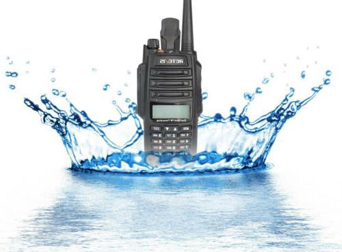 5pcs RT6 Waterproof UHF+VHF Talkies Emergency