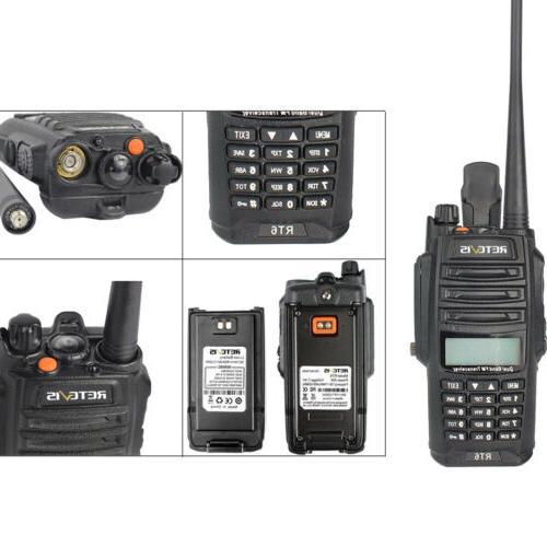 5pcs RT6 Waterproof UHF+VHF Emergency LED