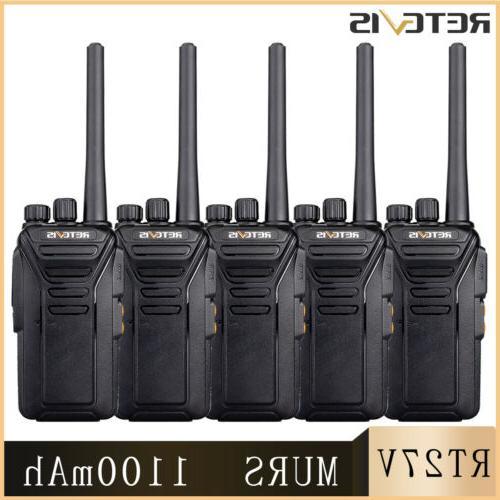 5x rt27 walkie talkie vhf murs 5ch