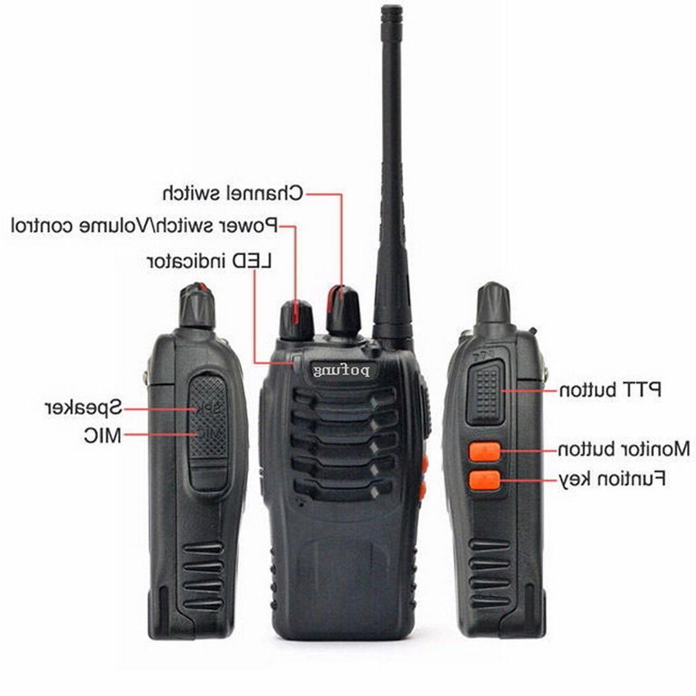 6 Walkie Talkie 2 Handheld Police Frs
