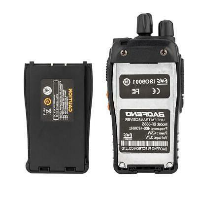 6x Way Walkie UHF 400-470MHz Handheld Earbuds