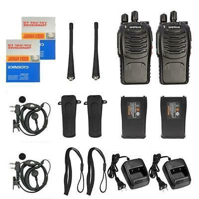 6x Baofeng Way Radio Walkie UHF Earbuds