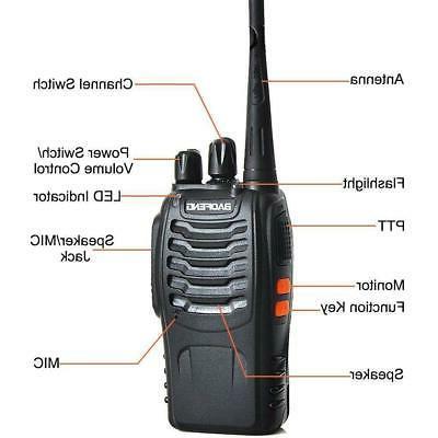 6x BF-888S Way Radio UHF 400-470MHz Earbuds