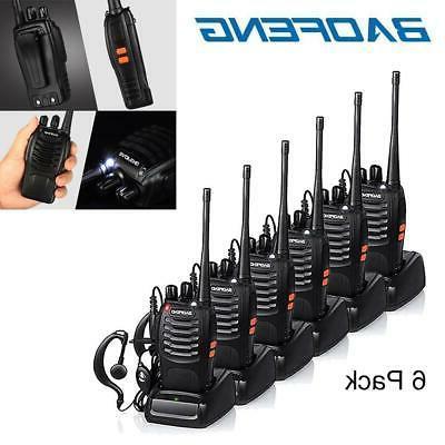 6x bf 888s two way radio walkie