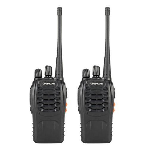 4x Baofeng BF-888S Way Radio Walkie UHF 400-470MHz Handheld Earbuds