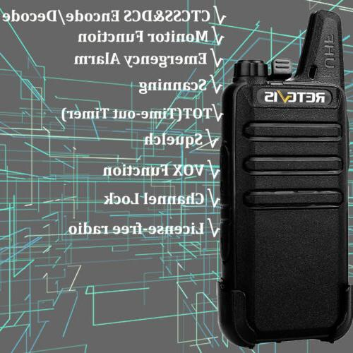 RT22 Two-Way Long Range UHF16CH VOX TOT Walkie Talkies
