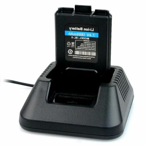 6XRetevis 128CH 1400mAh Power Alarm 5W Walkie US