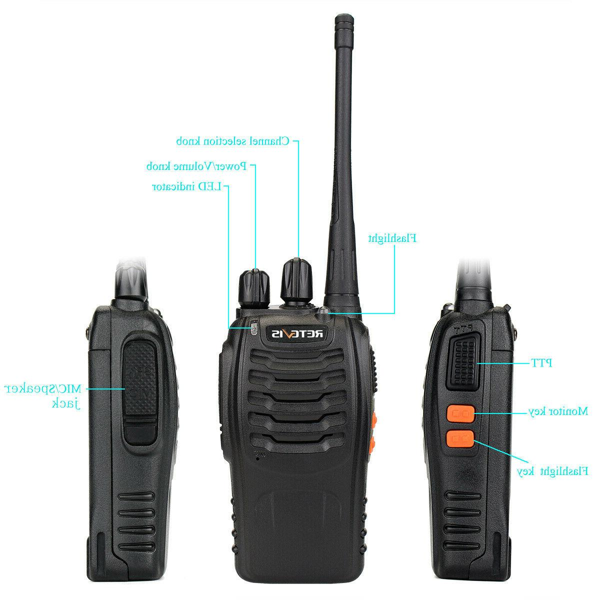 4 pack Talkies w/ Earpiece Two CTCSS/DCS
