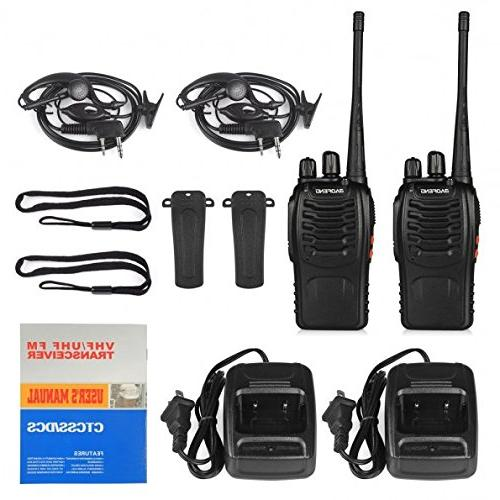 BaoFeng BF-888S 2pcs in One Box with Rechargeable Battery 16 Channels Radio