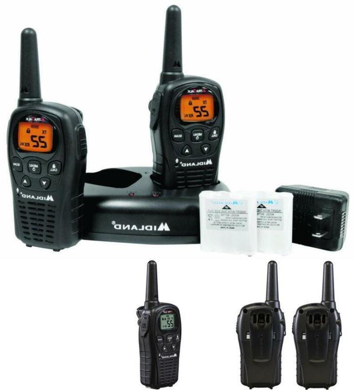 30 Mile Range Midland Two Way Walkie Talkie Radio Set with Charger LXT600VP3