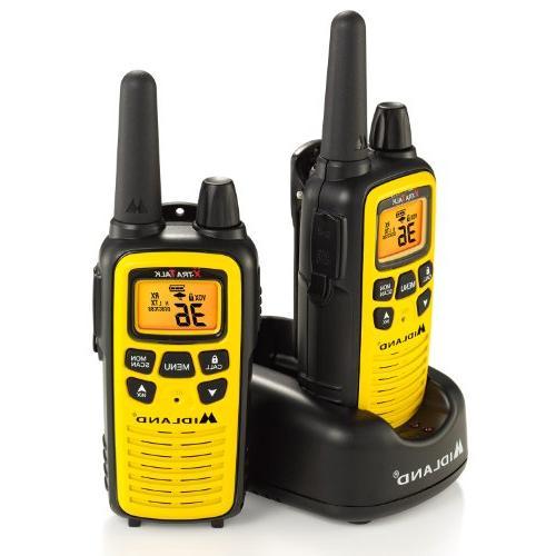 Midland - LXT630VP3, Channel Two-Way - to Mile Range Walkie 121 Weather + Alert