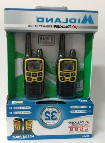 Midland - X-TALKER T61VP3, 36 Channel FRS Two-Way Radio - Up