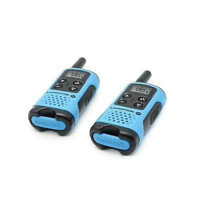 Motorola Talkabout T100 Walkie Talkie 4 Pack Set 16 Mile Two Way Blue Radios new