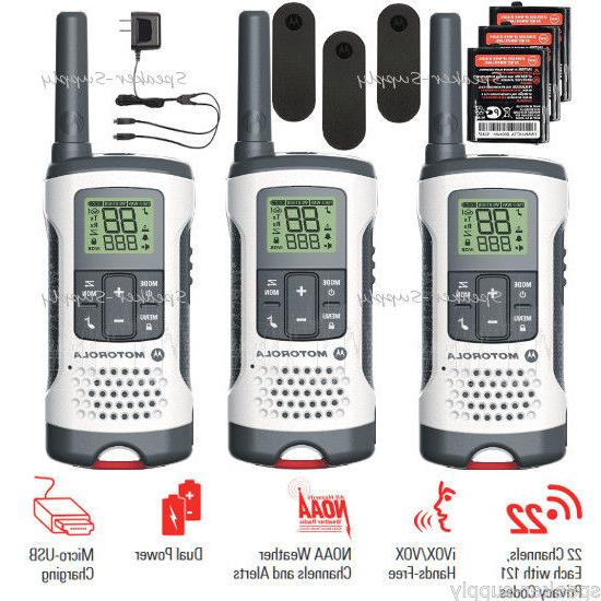 Motorola - 25-mile, 22-channel Frs/gmrs - White Red Lanyard