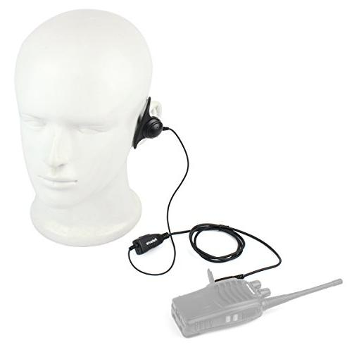Retevis 2 Talkies D Headset Earpiece Compatible Baofeng UV-5R Retevis H-777 RT21 RT22 H-777S Kenwood Radios