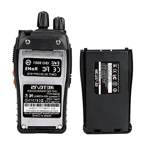 Retevis UHF Band Flashlight 2 Radio Transceiver Speaker Mic