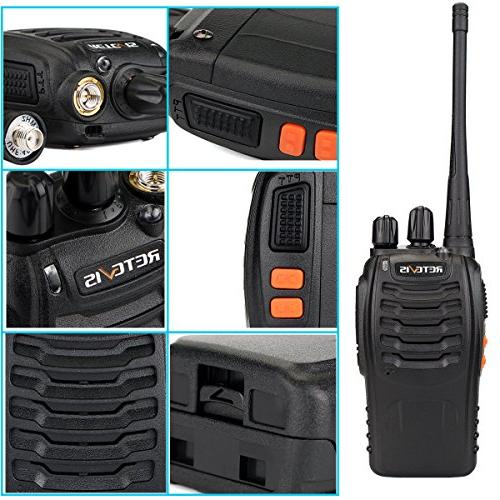 Retevis Walkie UHF Long 2 Portable Way Radios Adapter