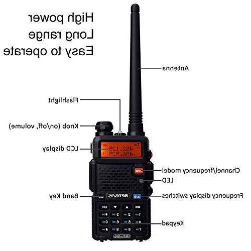Retevis Walkie Long 128CH Dual Two-way Radio with Speaker