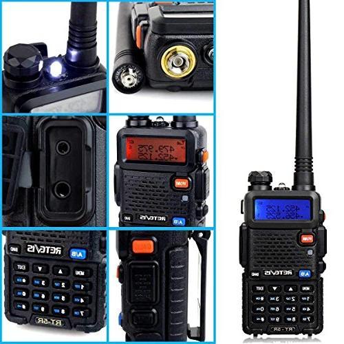 Retevis Walkie Long Range 128CH UHF/VHF Two-way Mic