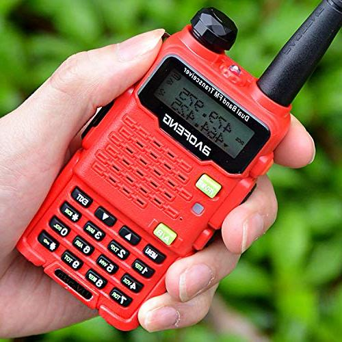 Two Way Talkie UV-5R5 Two-Way Ham UHF/VHF 136-174/400-520MHz,65-108MHz Upgraded Earpiece,Built-in VOX -