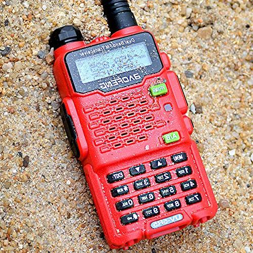 Two Radio,Baofeng Two-Way Ham Radio Transceiver UHF/VHF Upgraded Earpiece,Built-in - Red