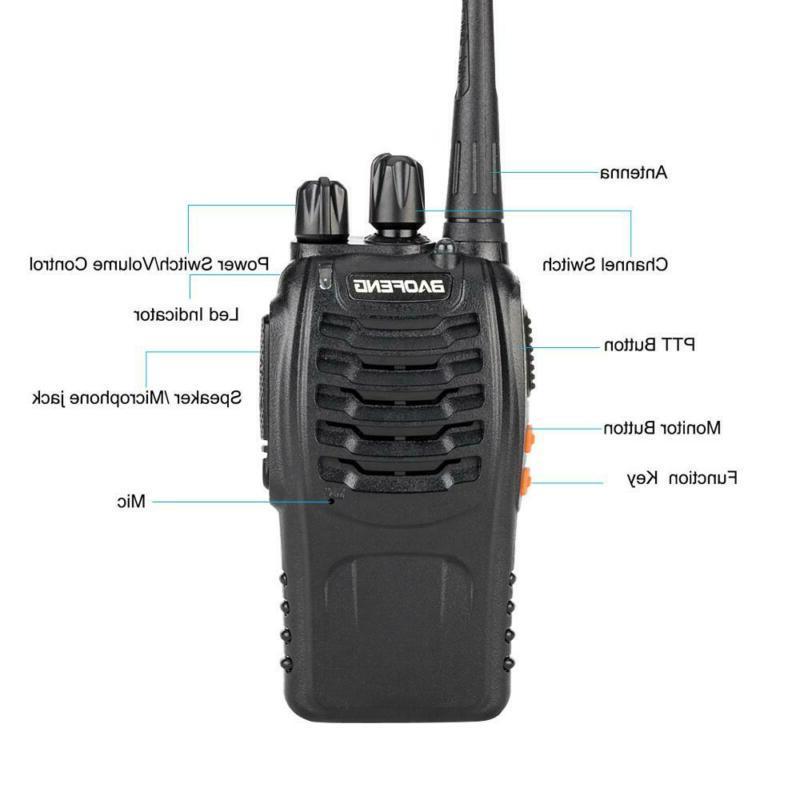 A 5W Handheld Walkie Black Headset