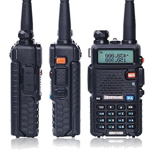 BaoFeng Talkie UV-5R Dual Band Radio 1800mAh Battery one Mic. one NA-771