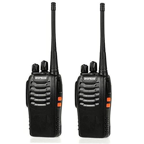 Baofeng Talkie, Two Way in LED for Camping Hiking Travelling Communication Walkie Talkies
