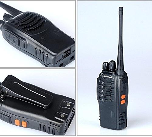 Baofeng Two Radios in Torch for Camping Hiking Communication Walkie Talkies