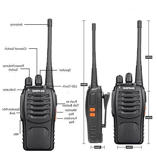 Baofeng Walkie Two Radios in LED Camping Hiking Travelling Communication Walkie Talkies