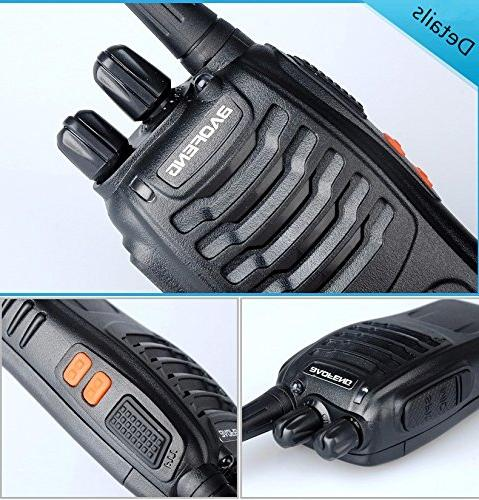 Baofeng Walkie BF-888S Two Way Radios in LED Torch for Camping Hiking Travelling Communication Walkie