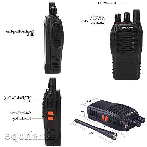 Baofeng Talkies Radios Range Earpiece Mic 5W Way Two Way Radio Ham Transceiver with Headsets Microphone