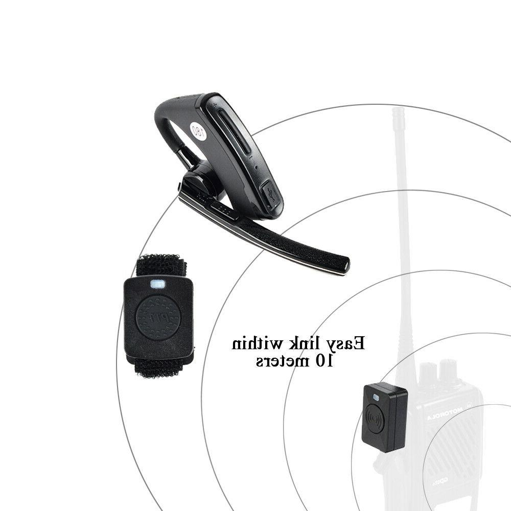 BLUETOOTH Earpiece headset Mic for Motorola Radio two-way ra