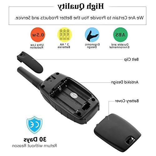 Walkie for Topsung FRS Way Radio with Clip/Hand Held Walky Talky 22 Channel 3 for Ship