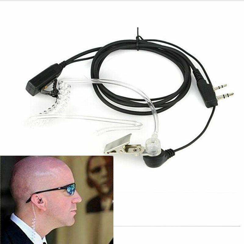 Bodyguard FBI Earpiece Earphone Headset with Mic PTT for Walkie Talkie Earbud US