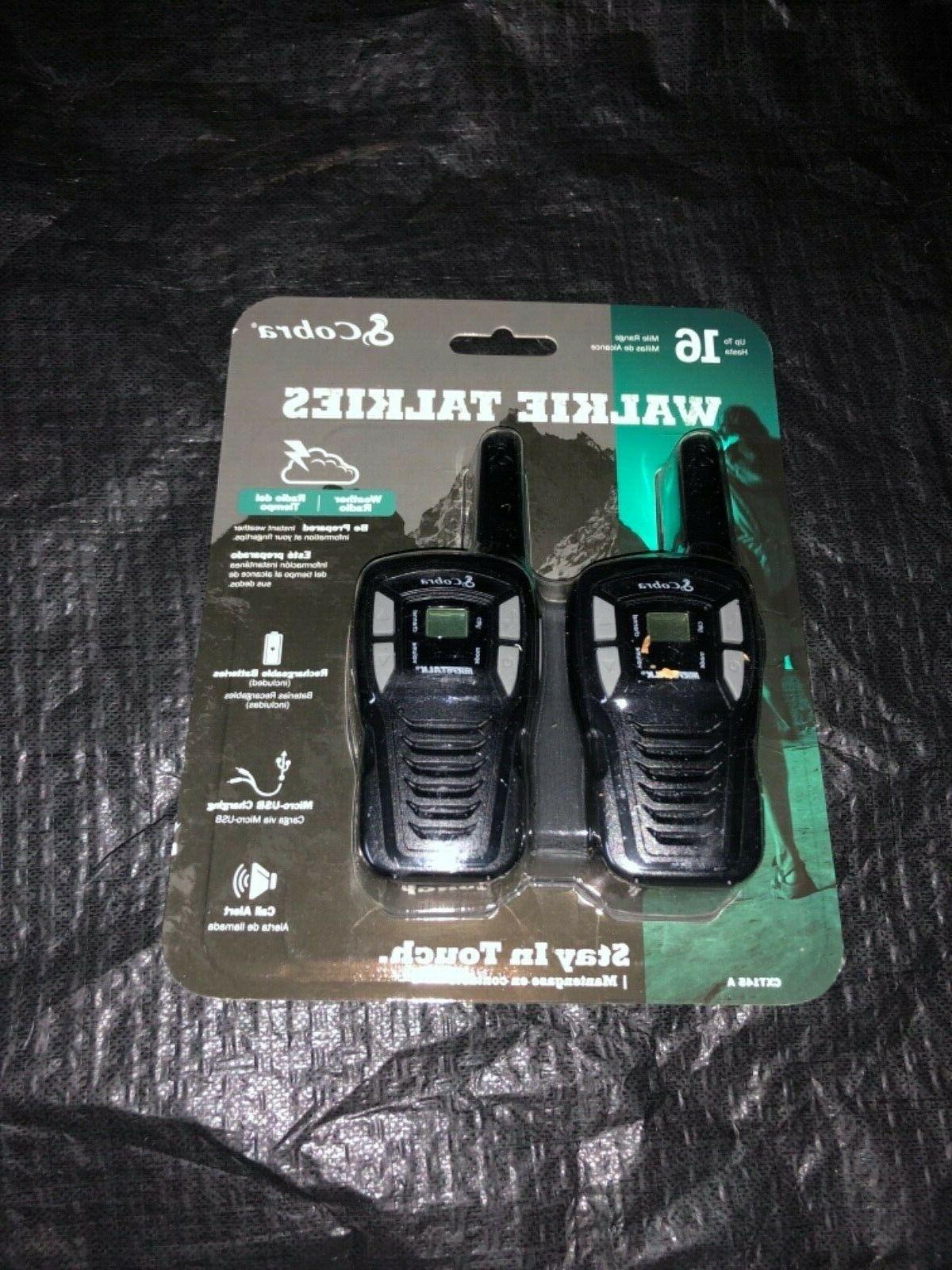 Cobra CXT145 MicroTalk 16 Mile Range 22 Channel 2 Way Walkie