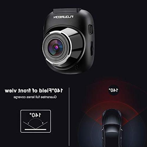 Dash 1080P Car Video Recorder with Angle G-Sensor Recording Motion Detection Monitoring