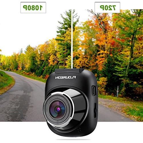 Dash FLOUREON 1080P Car Camera Recorder with Wide Angle Motion and Monitoring