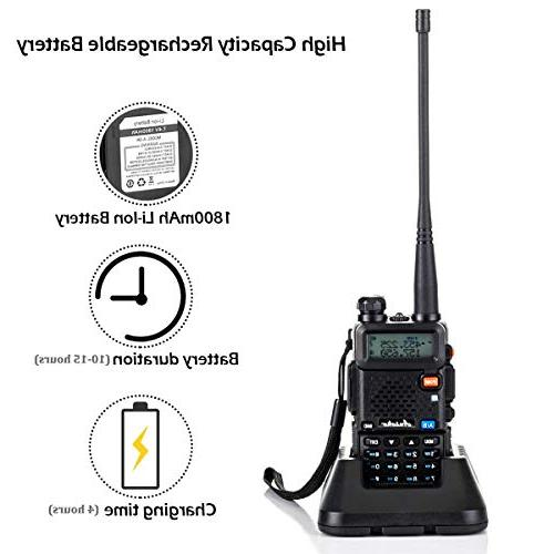 Ansoko Two Radios Long Talkies Rechargeable UHF/VHF Portable 2 Display